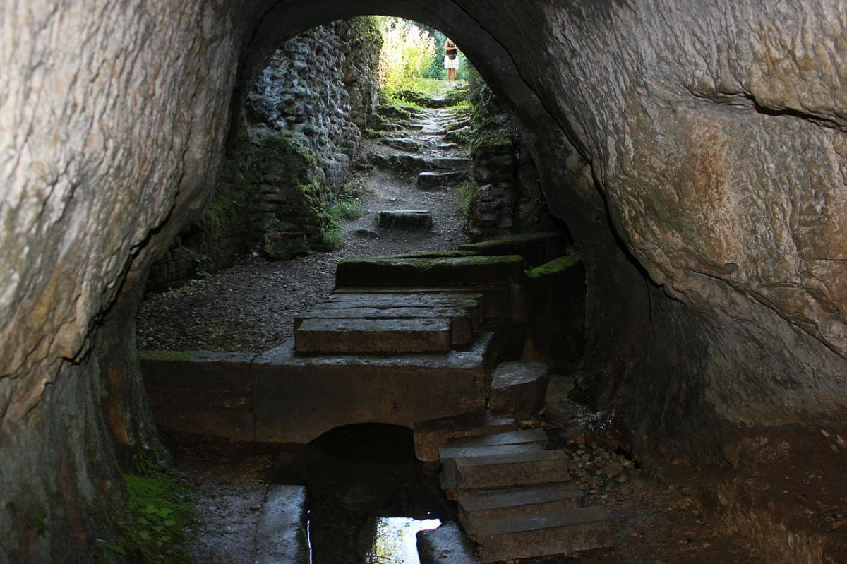 Source romaine (souterraine), aqueduc