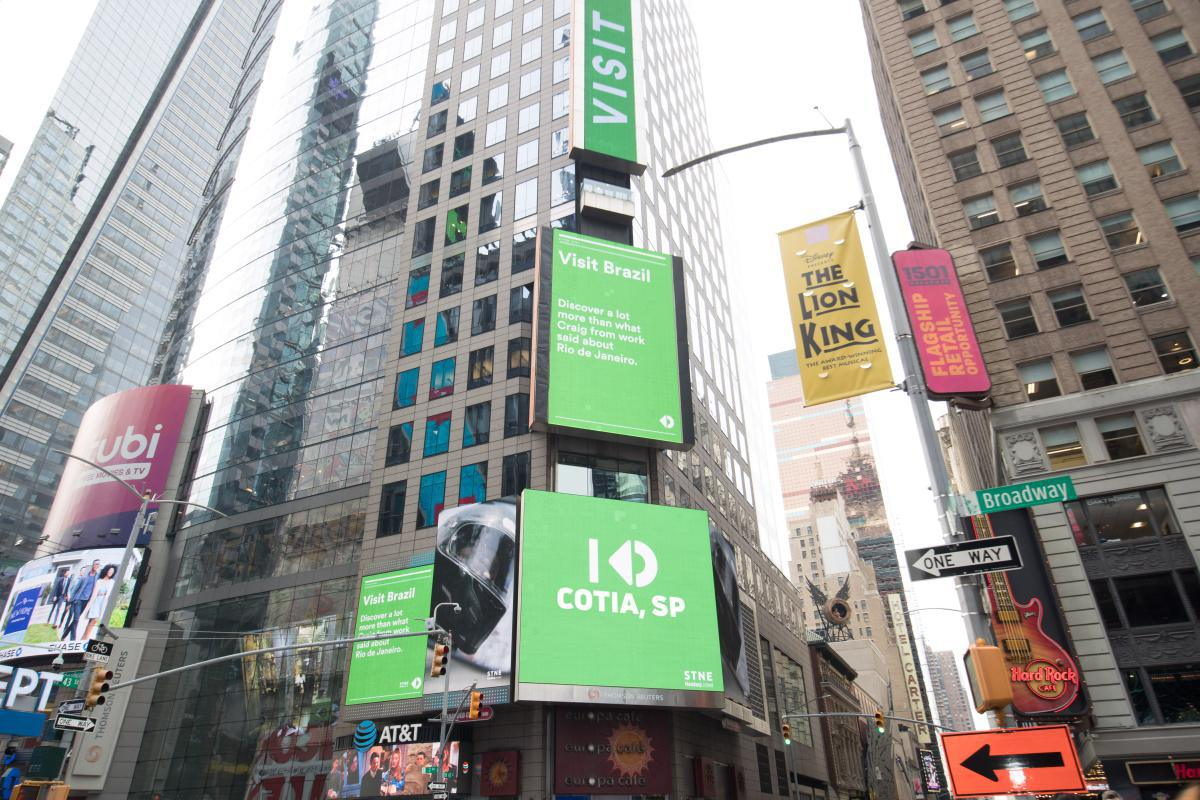 Cotia na Time Square