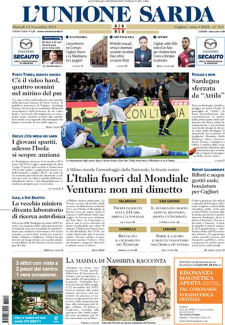 Fora di u mundiale, l'Italia pienghje i so turchini