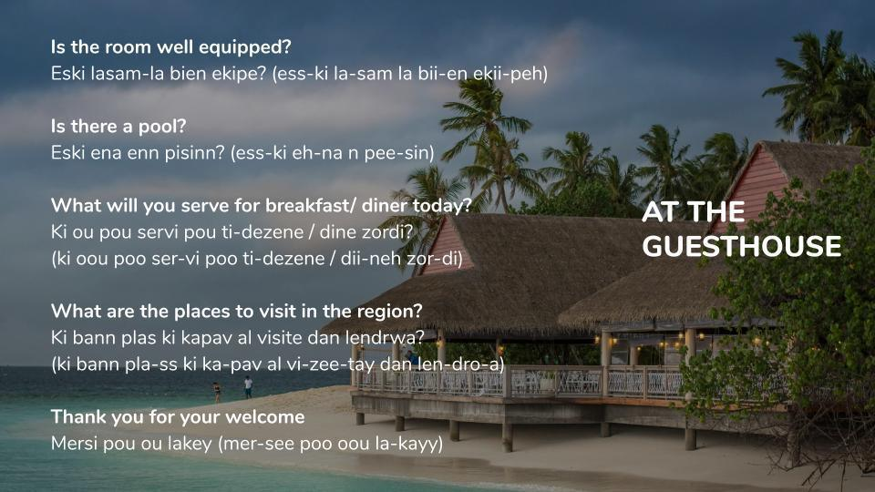 Time to Learn some New Mauritian Creole !