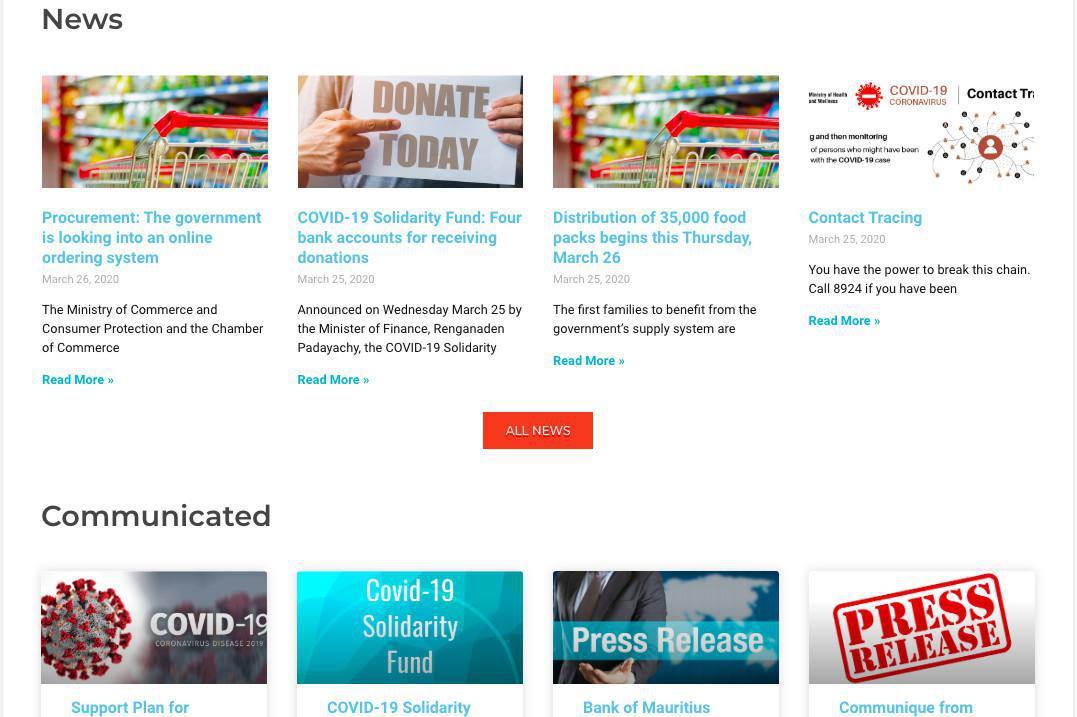 Covid-19 news in Mauritius with BeSafeMoris.Mu