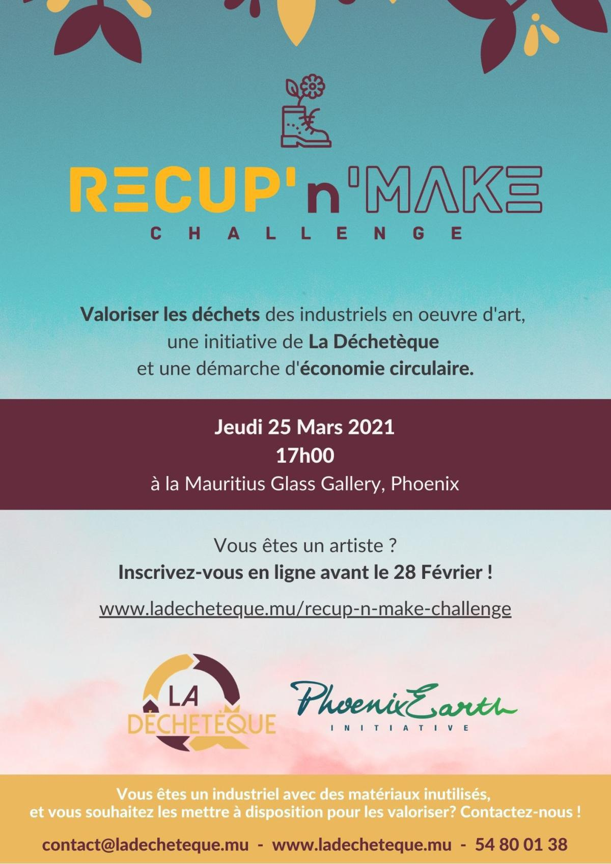 The Recup N Make Challenge: An initiative by La Déchetèque!