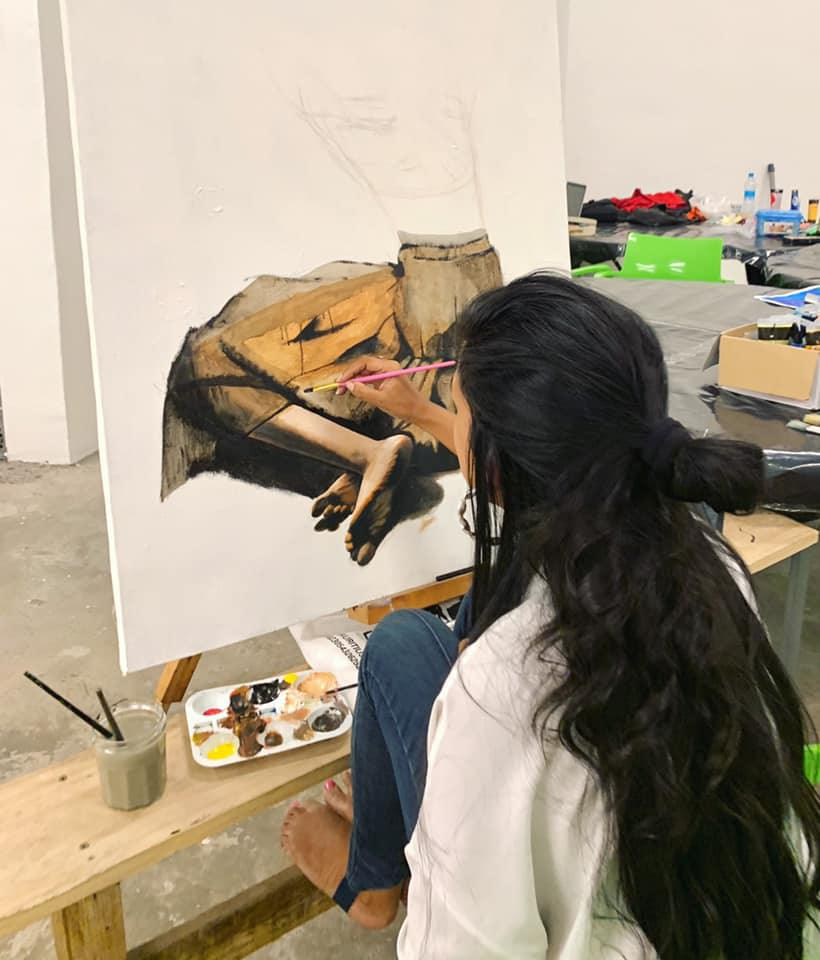 Here are 3 things you need to know about Kamila: our Mauritian artist Bringing paintings to life!