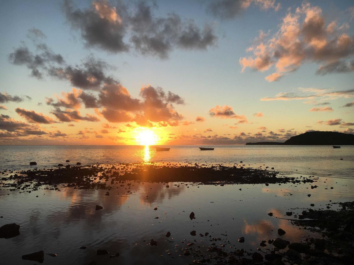 When the sun goes down at le Morne