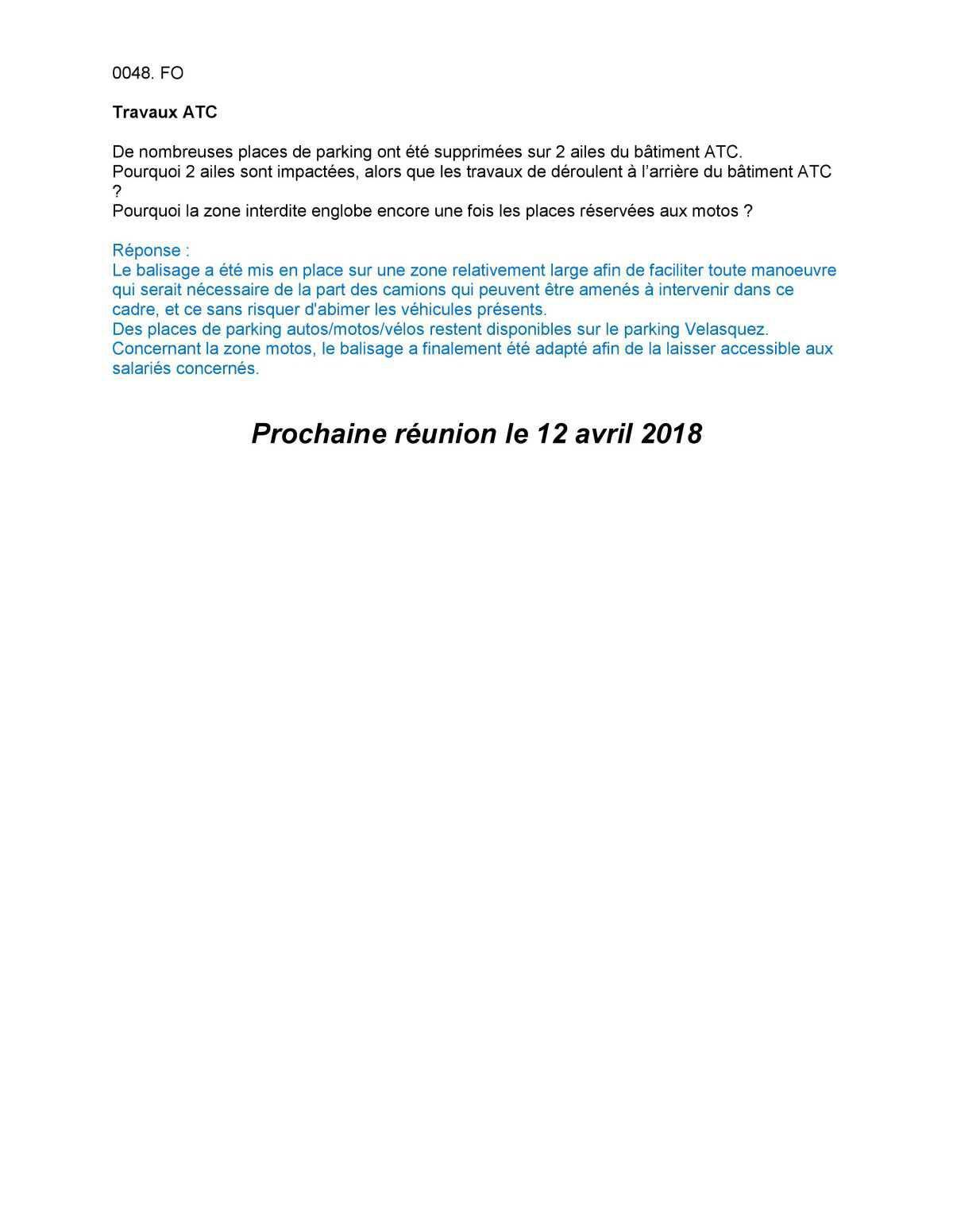 CR Délégués du Personnel Mars 2018