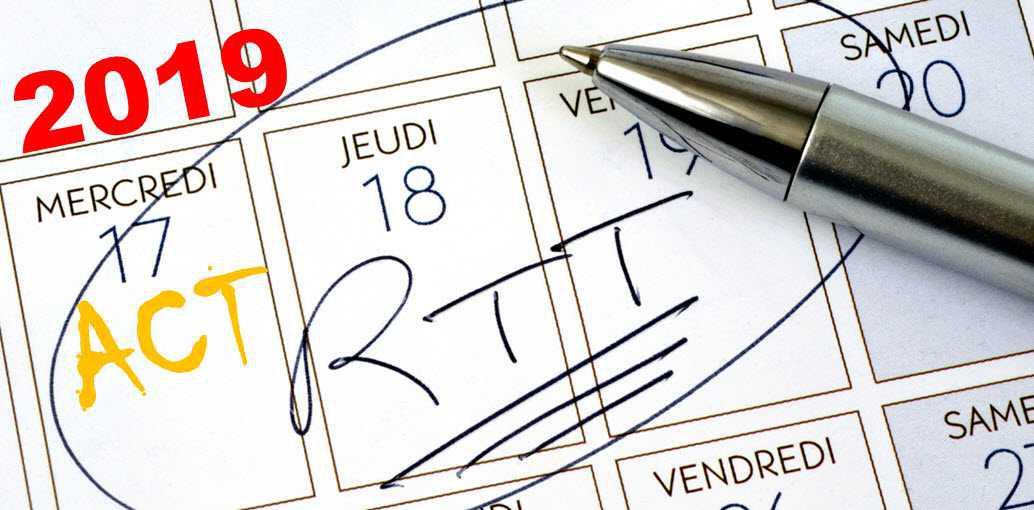 RAPPEL : Solde des ACT et RTT 2019