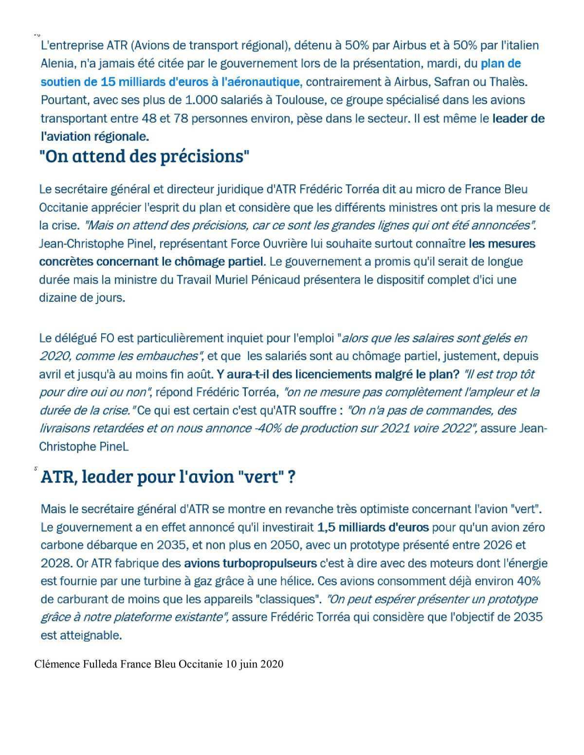 Prudence sur le plan gouvernemental (presse 10/06/2020)