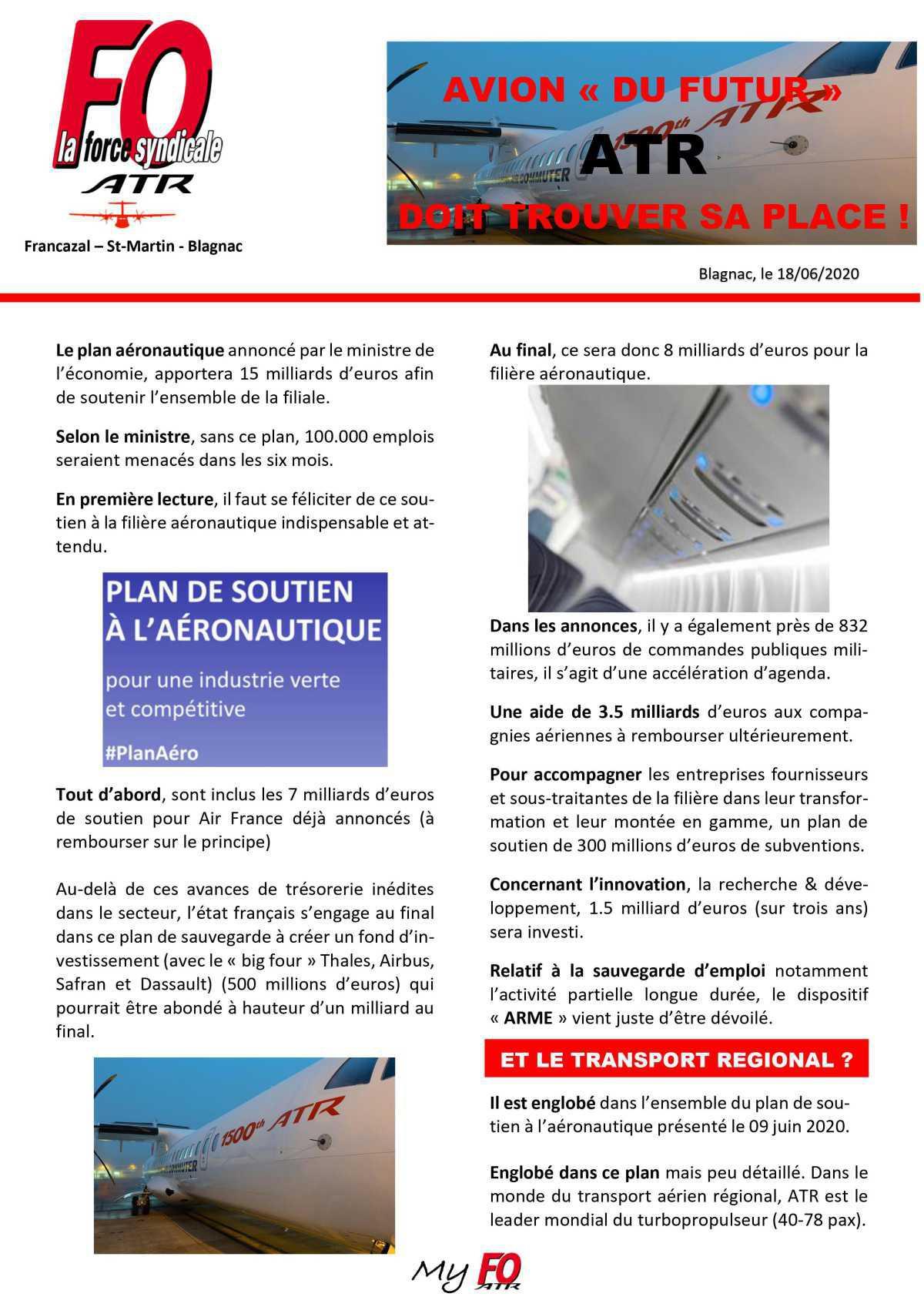 Pérenniser ATR : la responsabilité de nos actionnaires !