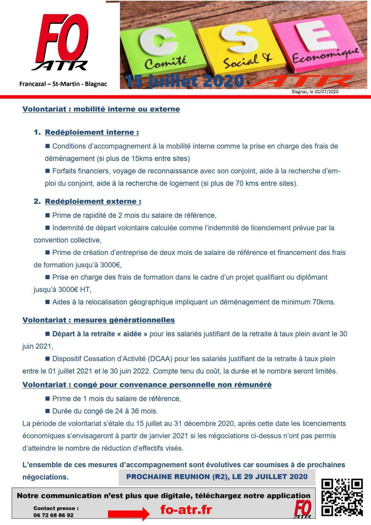 Compte Rendu CSE-E 15 juillet 2020