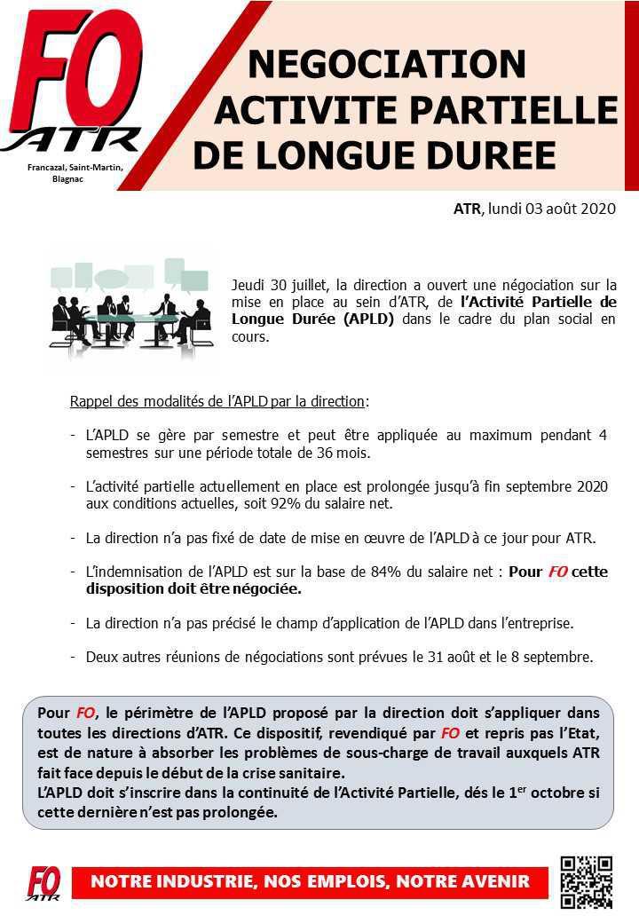 ATR : APLD début des négociations