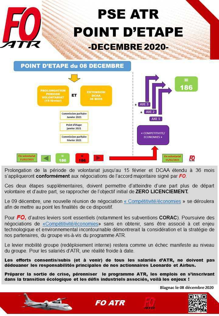 PSE ATR : Point d'étape et nouvelles mesures