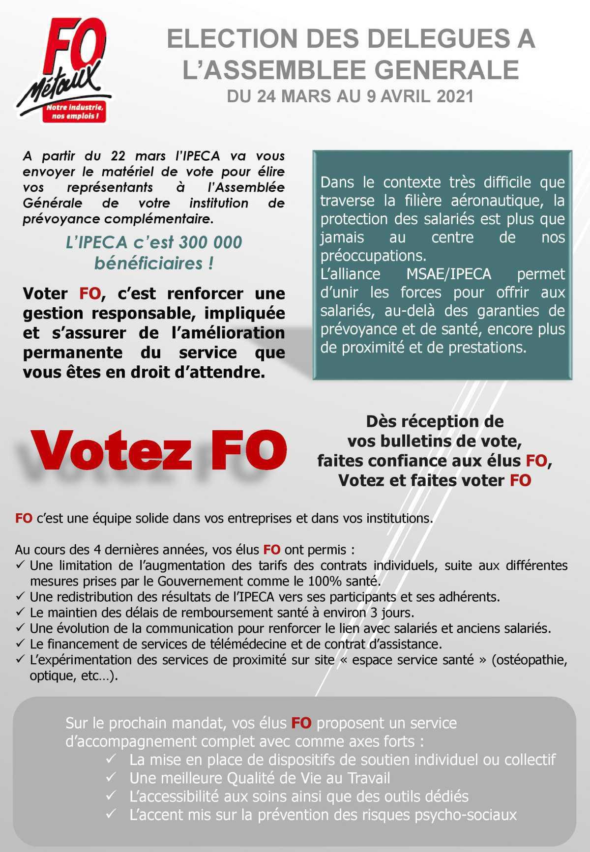 Elections IPECA du 24 mars au 09 Avril