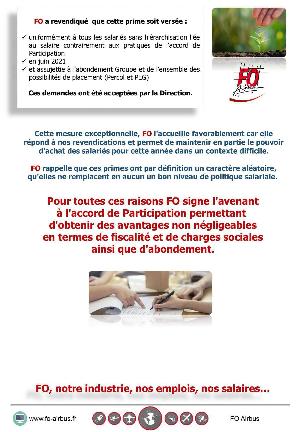 La participation 2020 sera de 2,09€...
