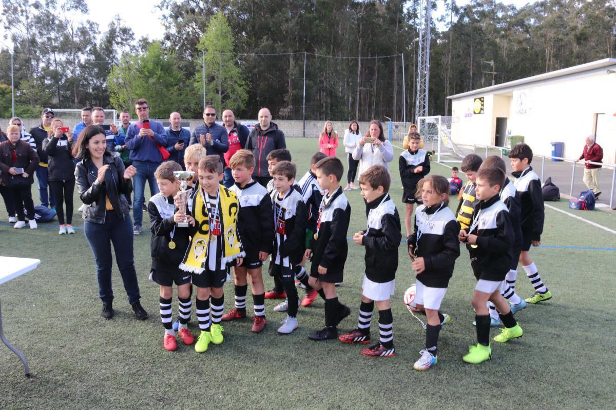 Alevíns do Noia CF e benxamíns do Outes FC gañan o VII Torneo Fútbol 8 Lousame 2019