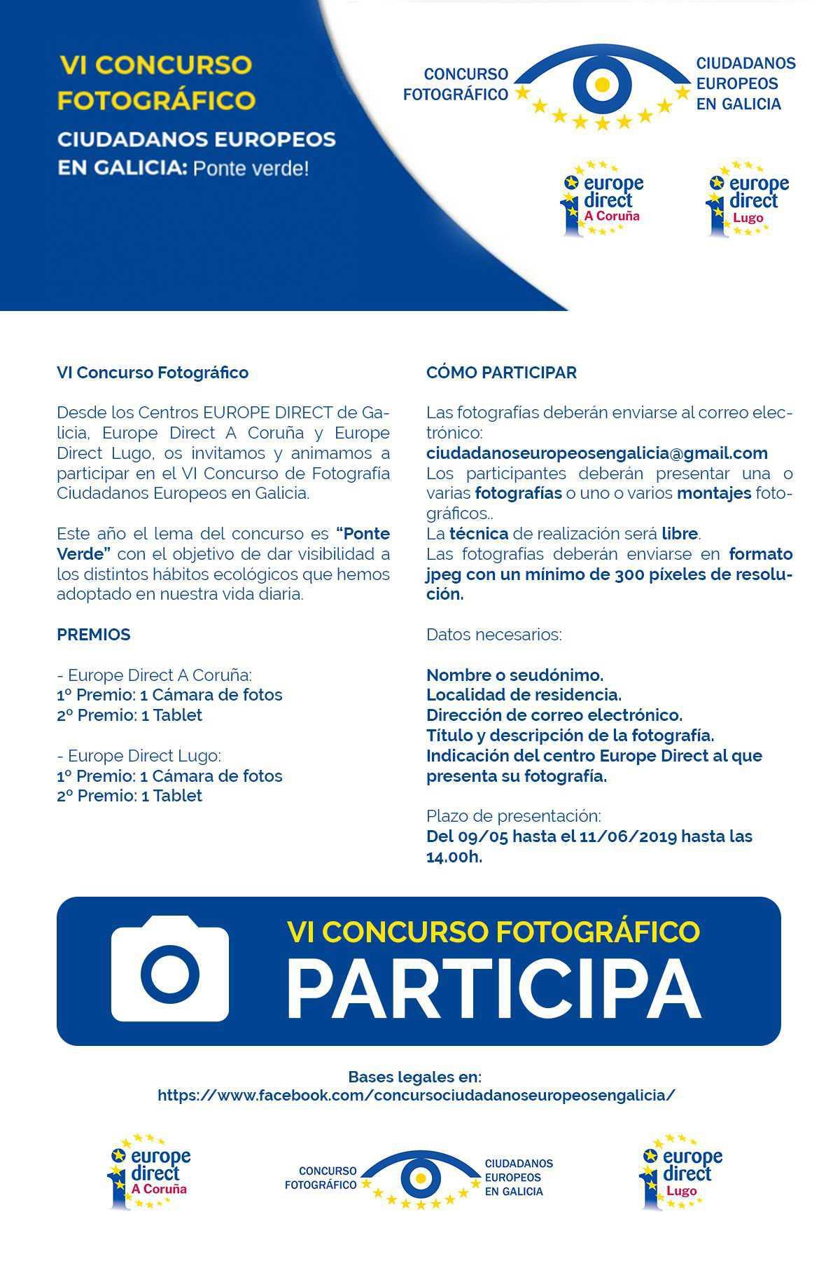 O centro Europe Direct da Deputación da Coruña convoca un concurso de fotografía para dar visibilidade aos hábitos ecolóxicos da vida cotiá