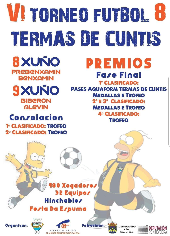 """O VI Torneo de fútbol 8 """"Termas de Cuntis"""" celébrase esta fin de semana no campo de A Ran coa participación de 480 xogadores galegos"""