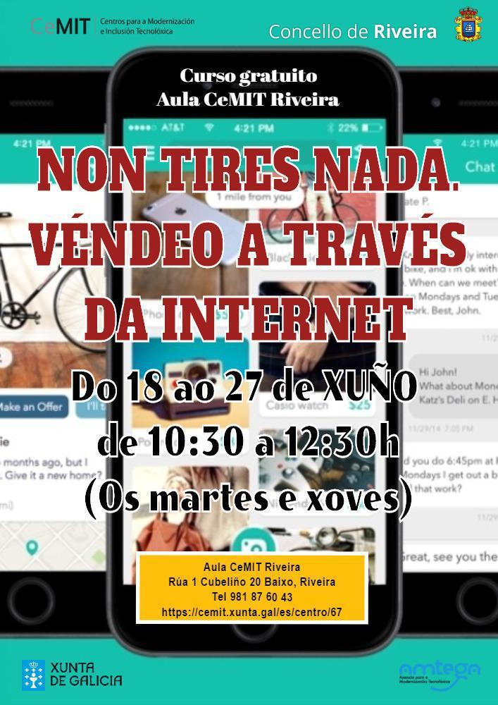 NOVOS CURSOS NA AULA CEMIT DE RIVEIRA: VENTA POR INTERNET E FACTURA DA LUZ