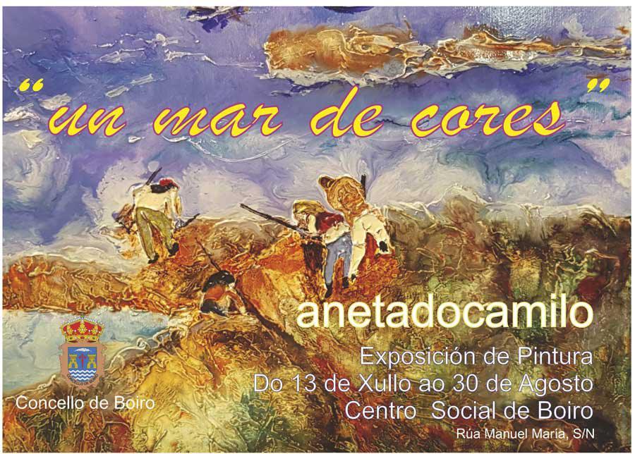 Un mar de cores: exposición de pintura no Centro Social de Boiro