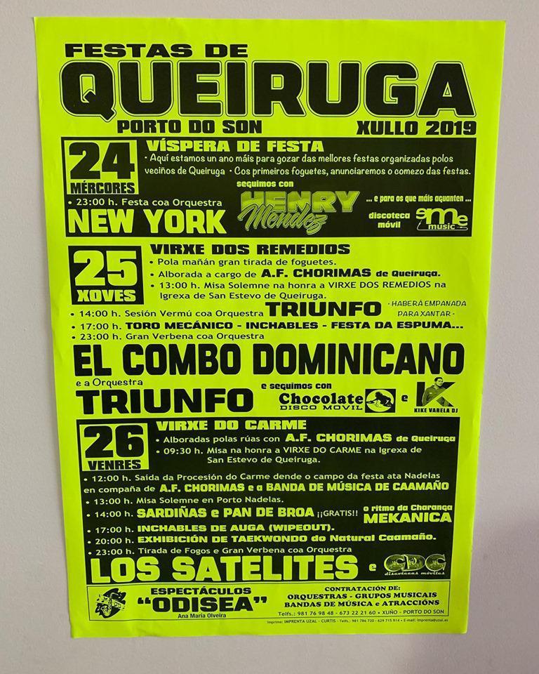 María Queiruga (Festas Queiruga), Sindo Gandarela (Ruta Río Vilacoba)