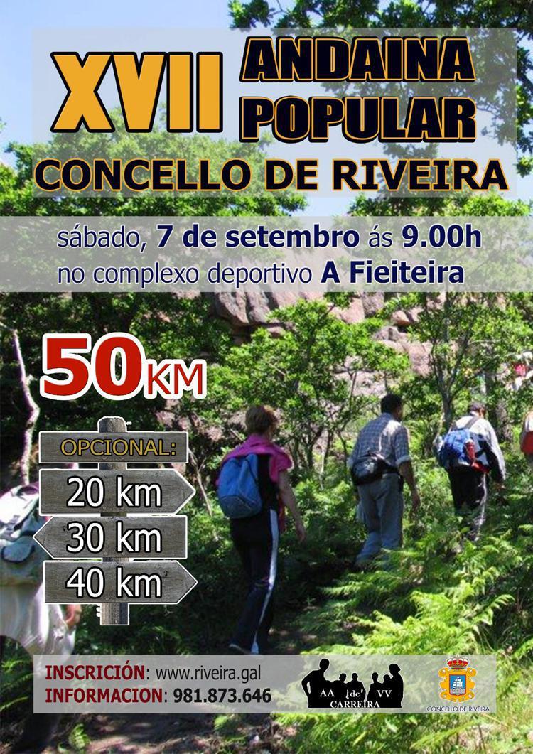 """XVII ANDAINA POPULAR """"CONCELLO DE RIVEIRA"""""""