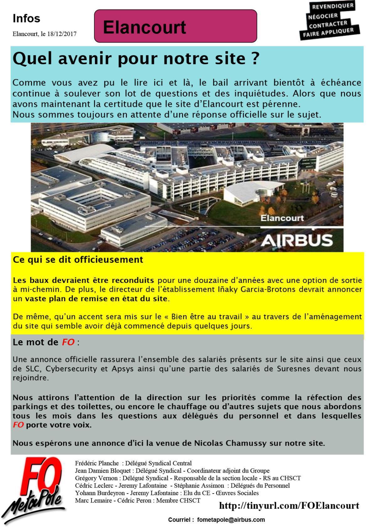 Quel avenir pour le site d'Airbus DS d'Elancourt ?