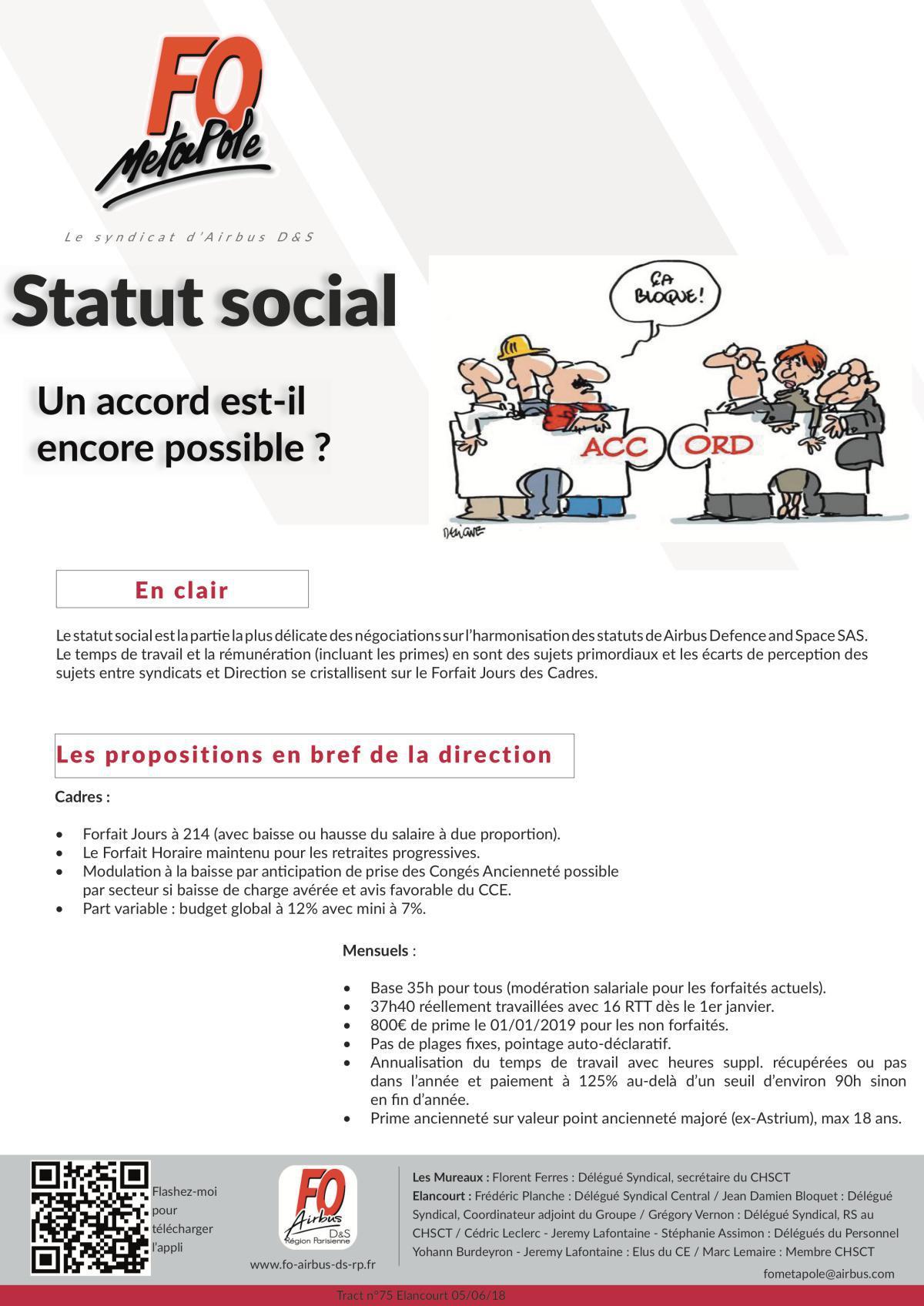 Un accord Statut Social est-il encore négociable chez Airbus DS ?