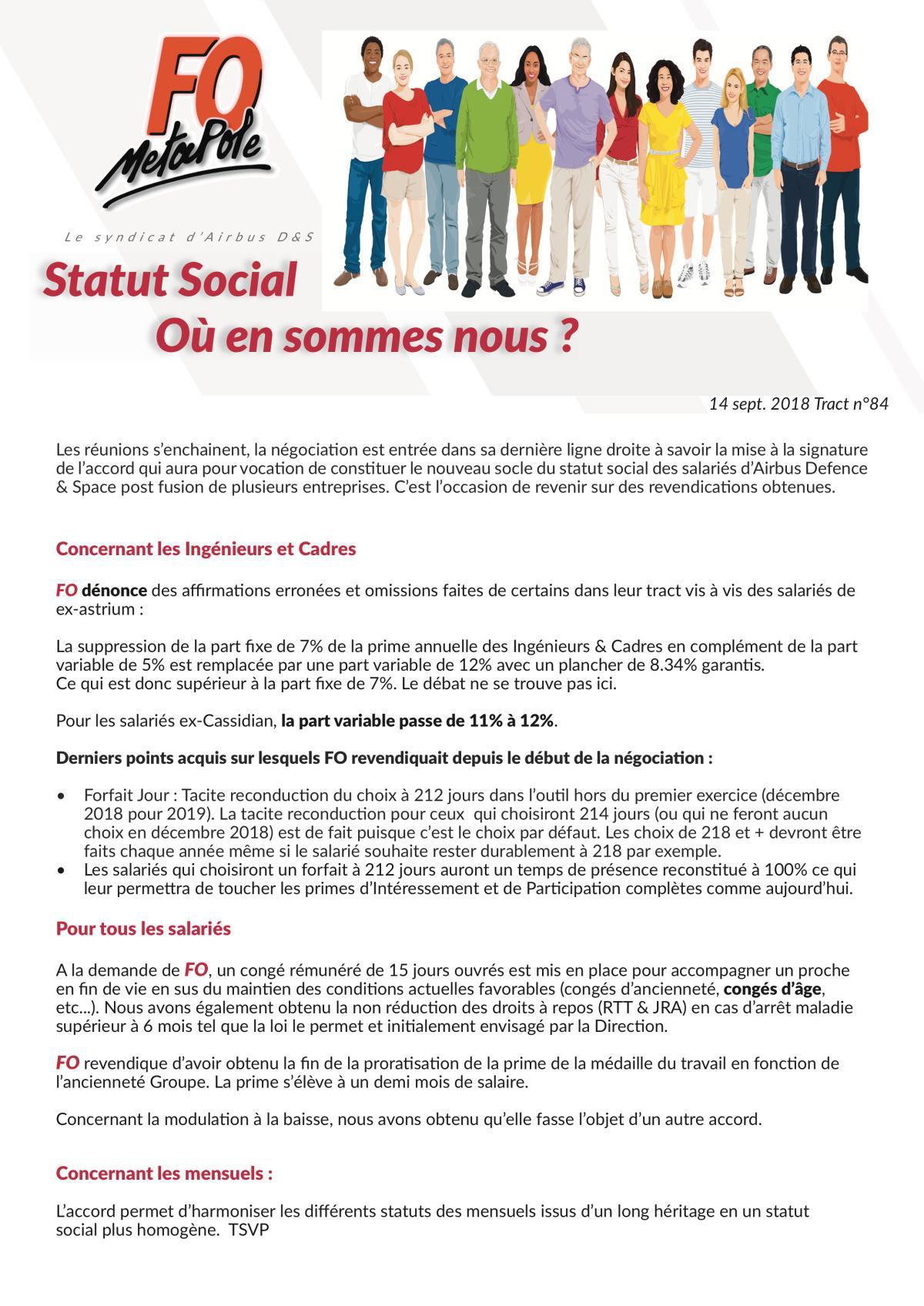 Accord : Statut Social