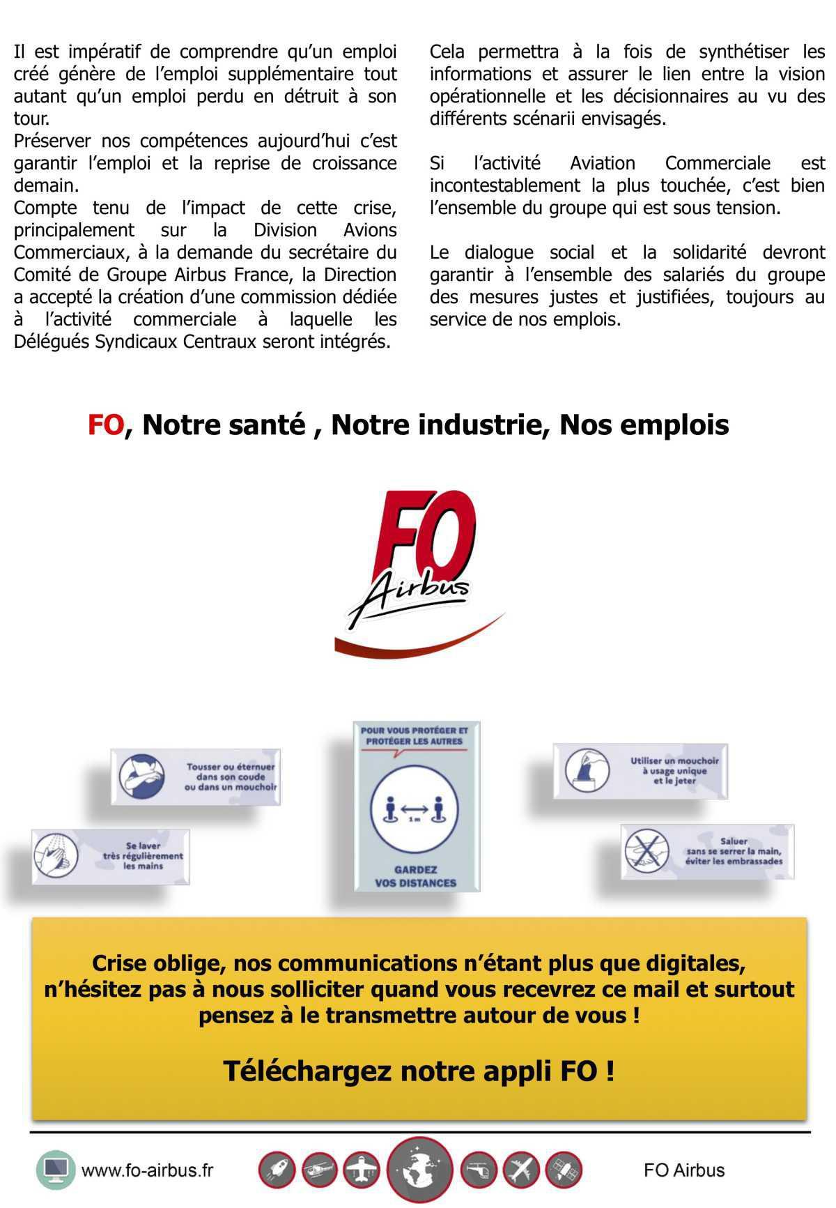 Comité de groupe Airbus France : Danger sur l'emploi !