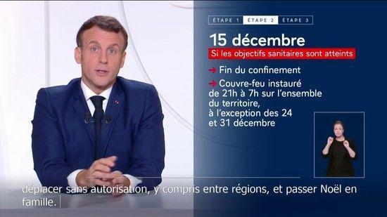 Attestations, Noël, commerces… Ce qu'il faut retenir des annonces du Président de la République du 24 novembre 2020