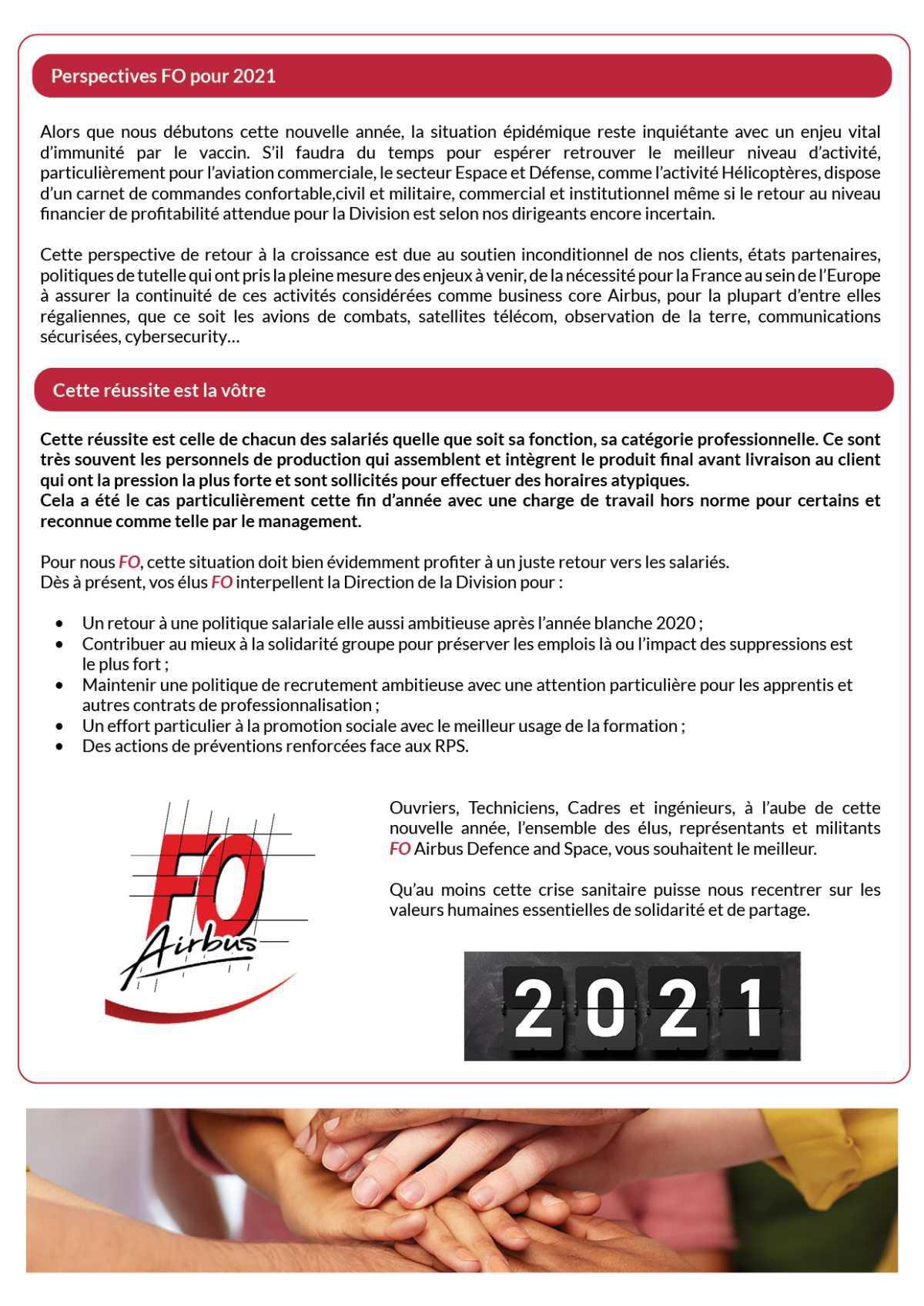 Objectifs 2021 : continuité et détermination dans nos actions pour vous