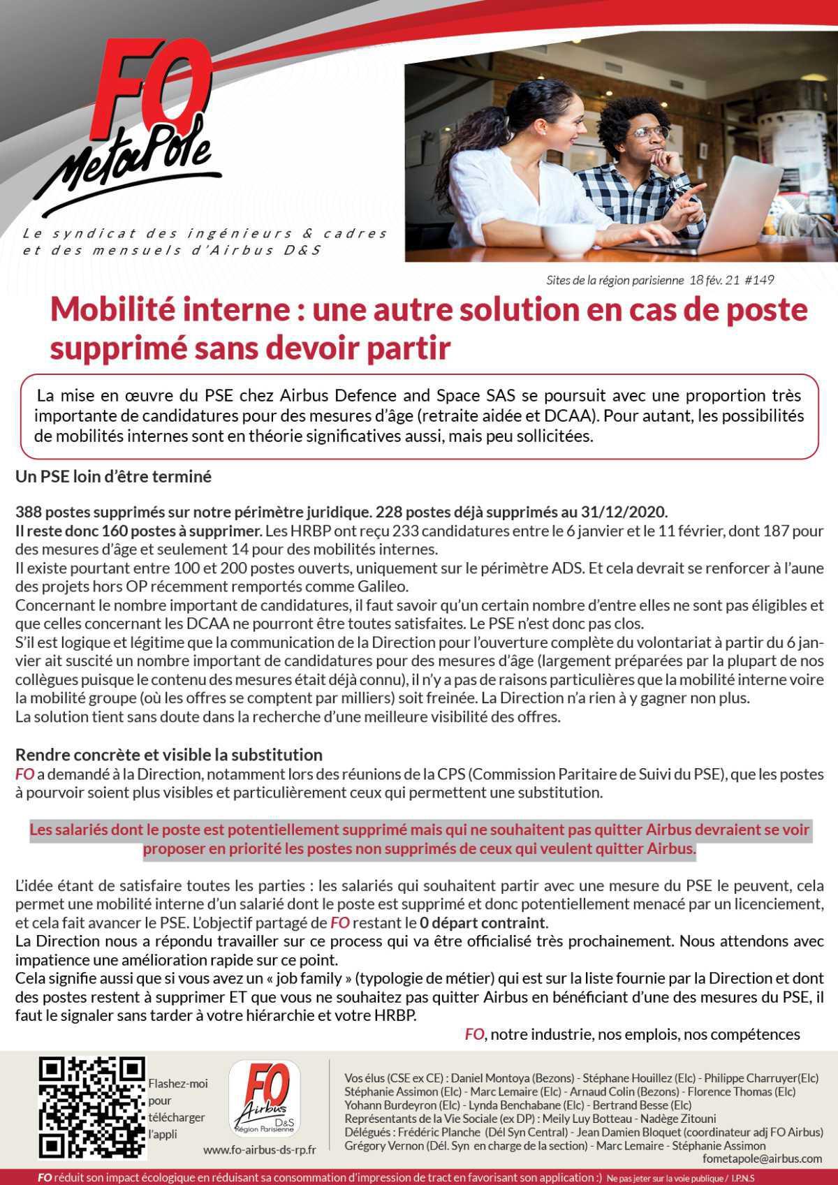 Mobilité interne : une autre solution en cas de poste supprimé sans devoir partir
