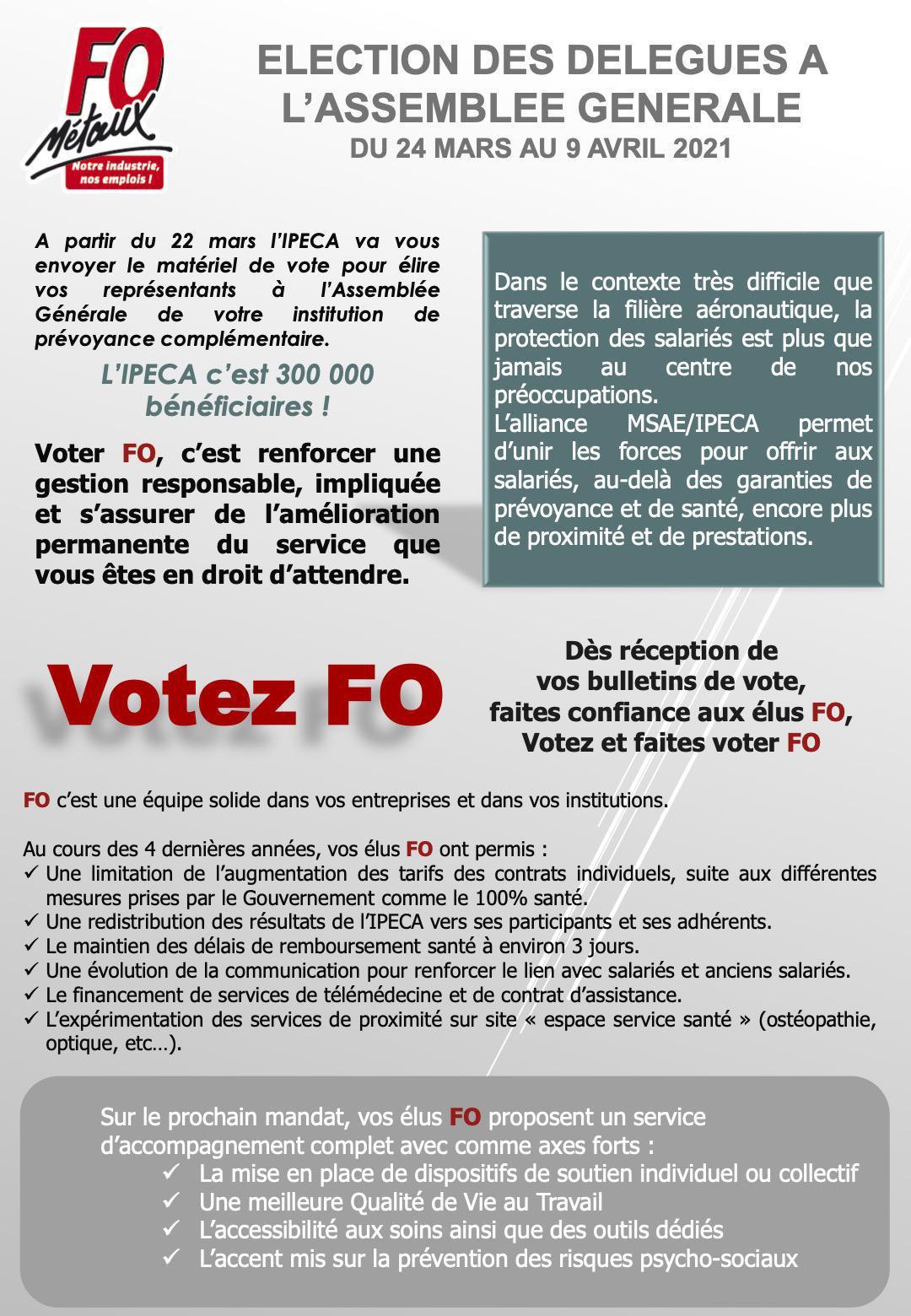 IPECA : Elections des délégués à l'assemblée générale