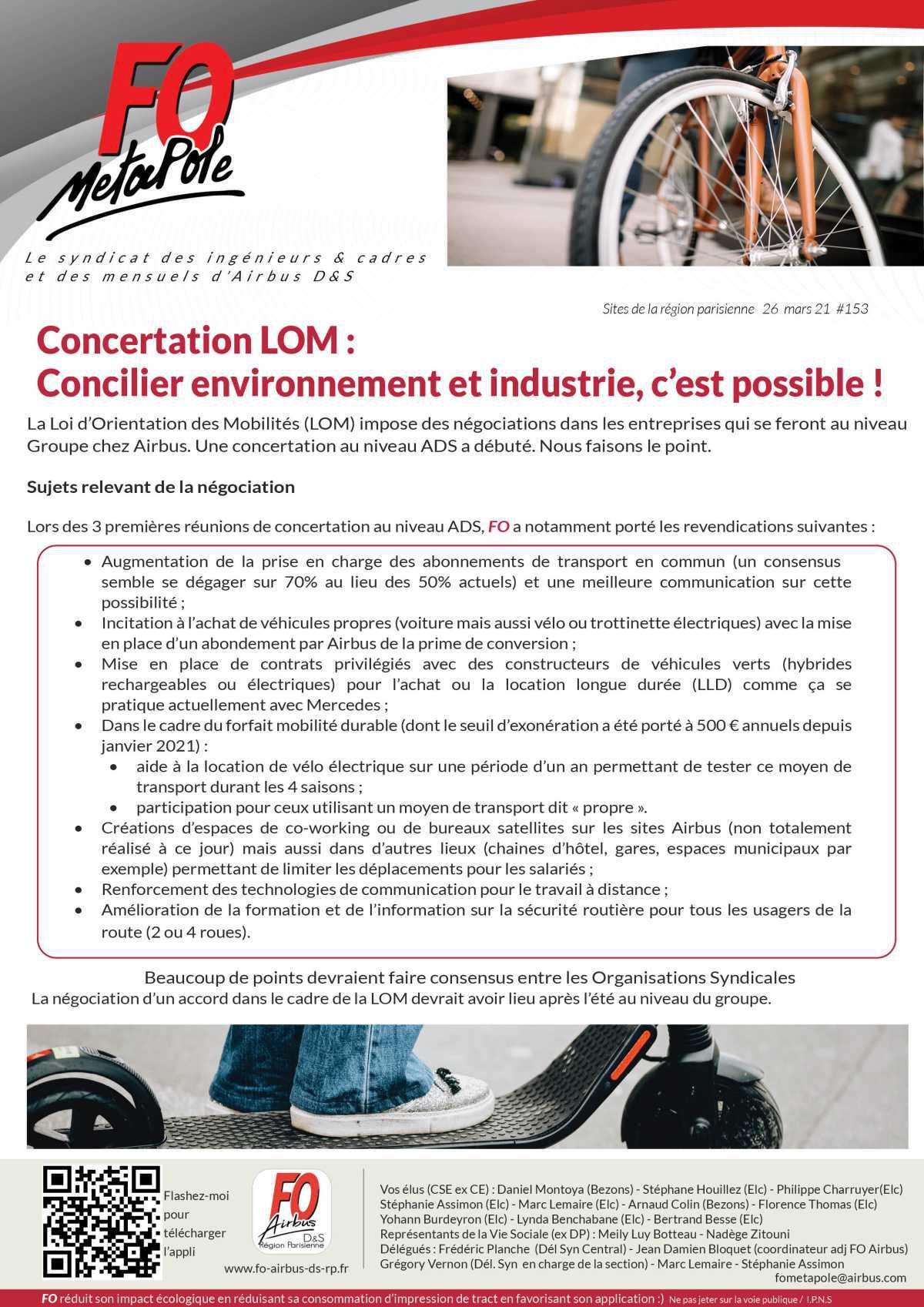 Mobilité (LOM): Concilier environnement et industrie, c'est possible !