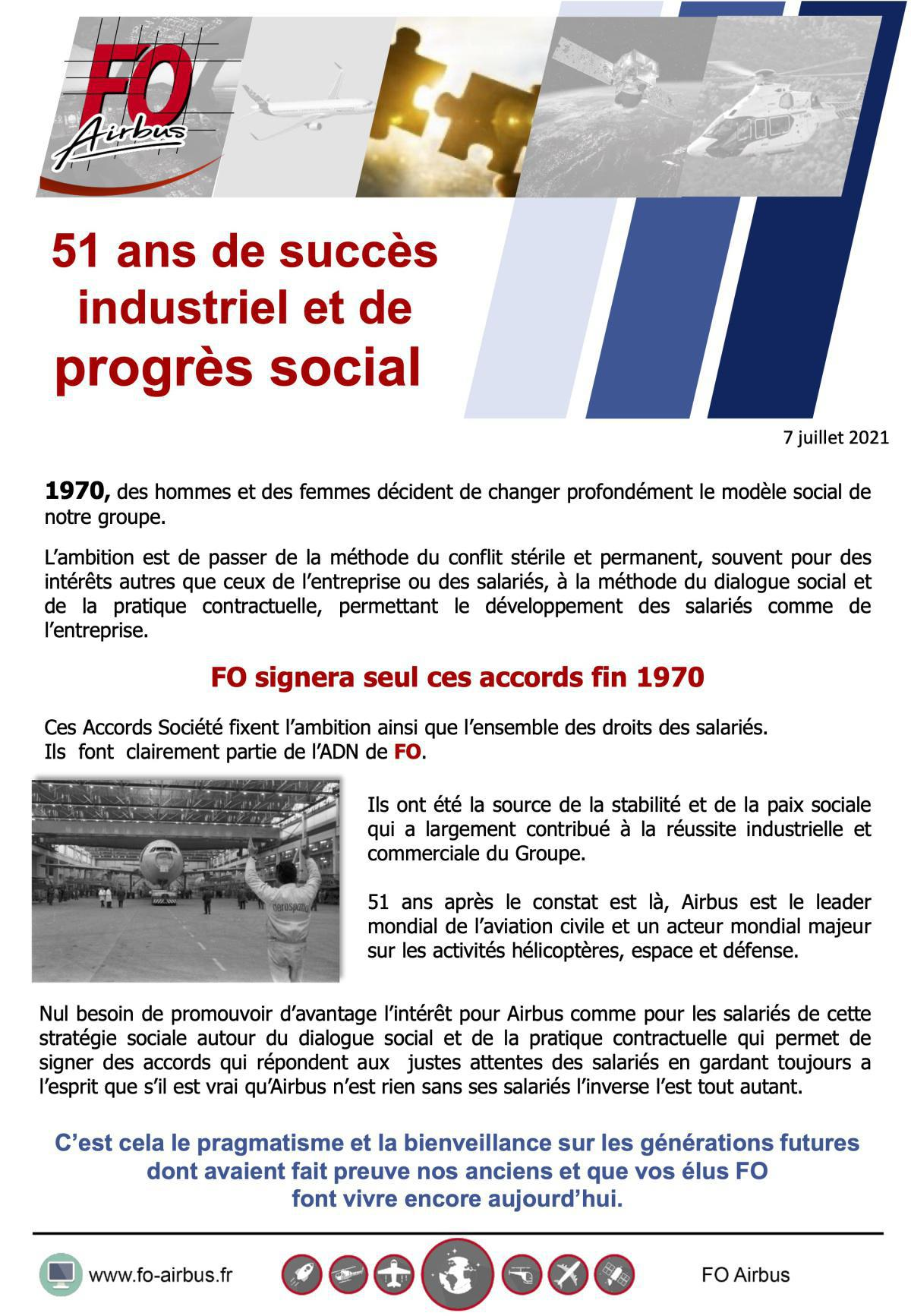 51 ans de succès industriel et de progrès social