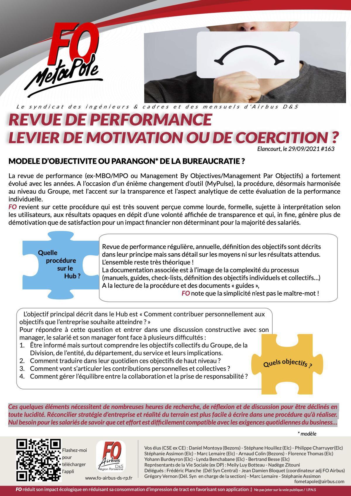 Revue de performance : levier de motivation ou de coercition ?