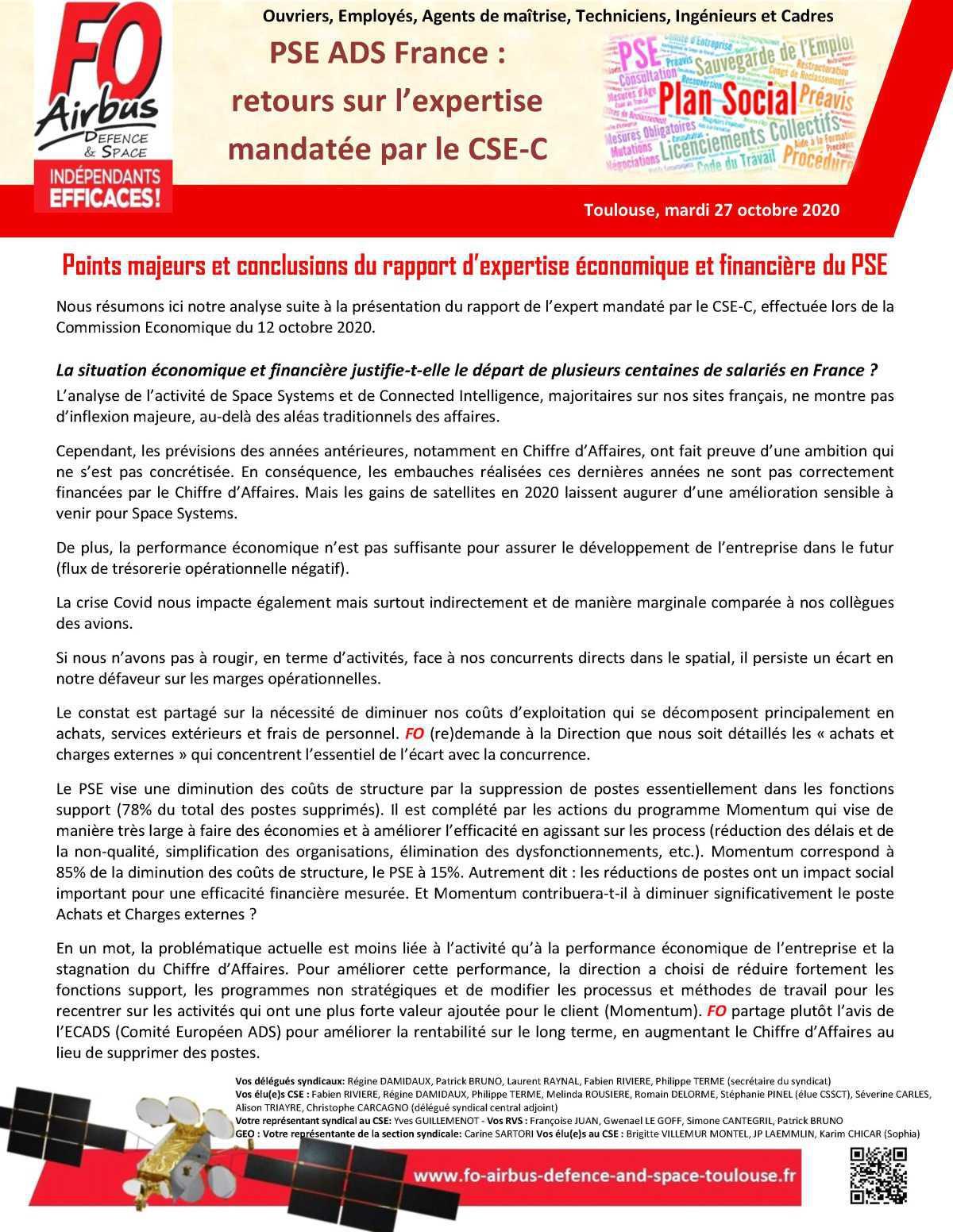 PSE ADS France : retours sur l'expertise mandatée par le CSE-C