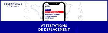 NOUVELLES ATTESTATIONS DE DEPLACEMENT COVID 19