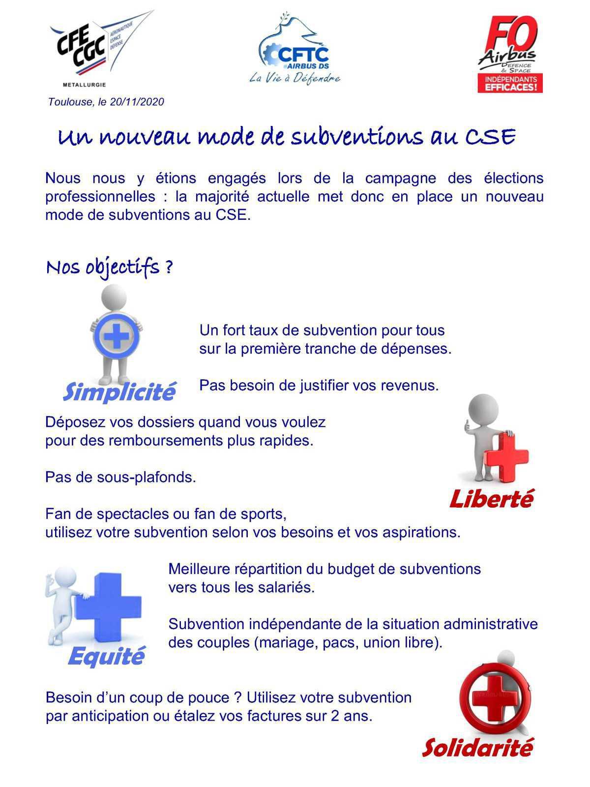 Un nouveau mode de subventions au CSE