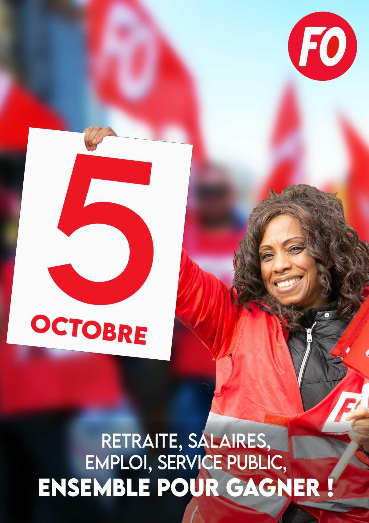 5 octobre, manifestation à Toulouse, départ 10H30 place Arnaud Bernard