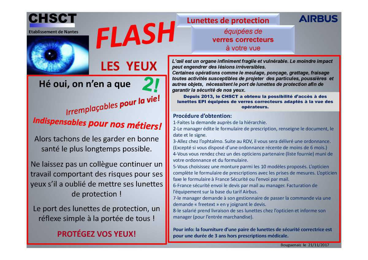 Flash EPI protection des yeux