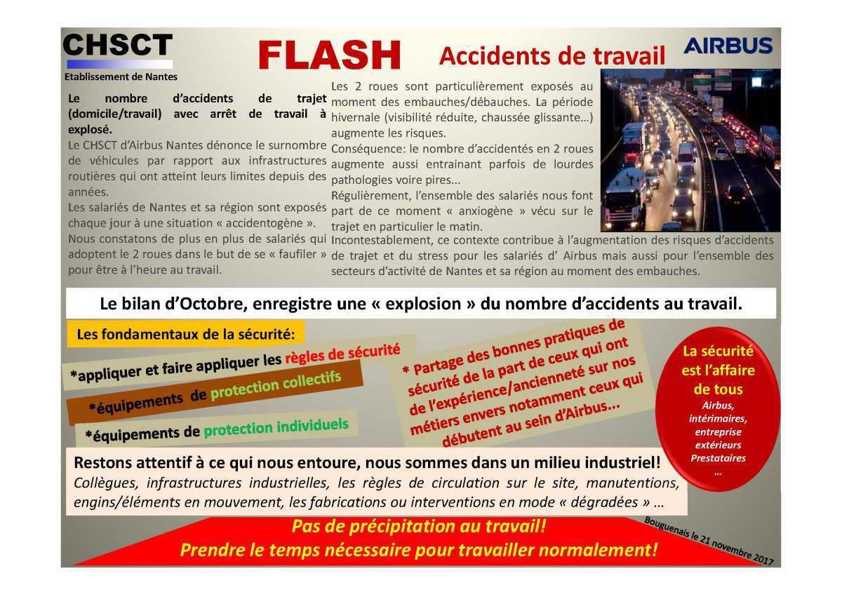 Flash accidents de travail