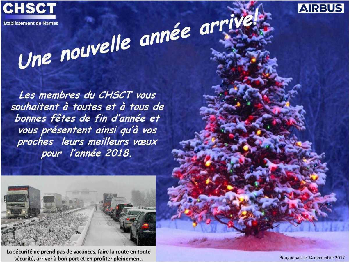 Le CHSCT vous souhaite de bonnes fêtes de fin d'année