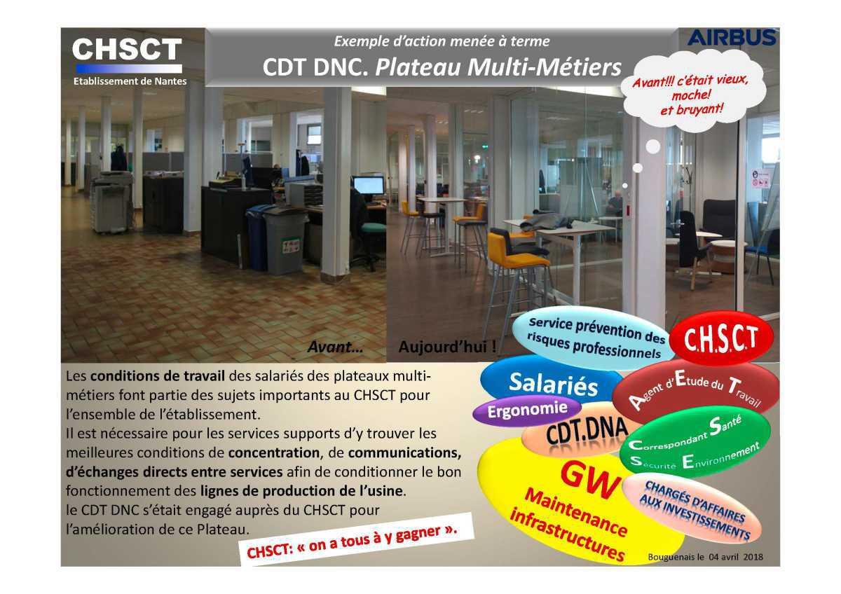 Réaménagement du plateau multi-métiers DNC1