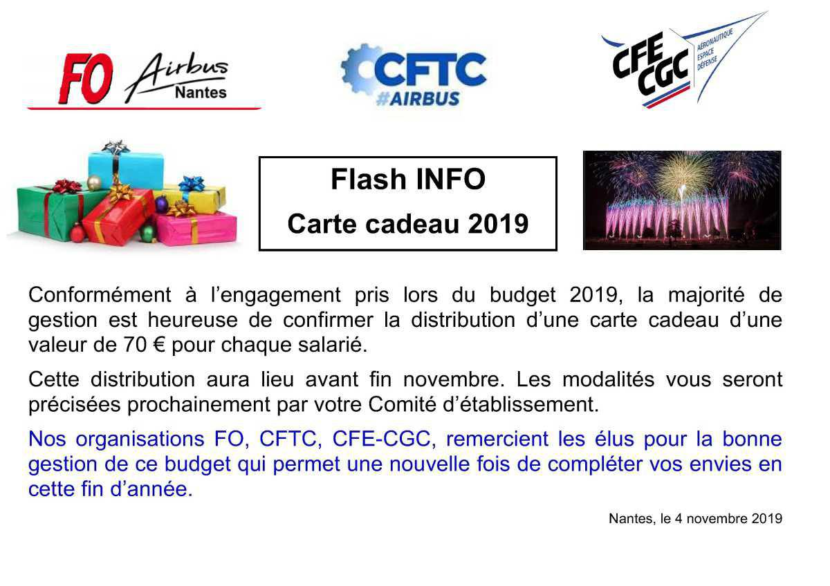 Flash carte cadeau.