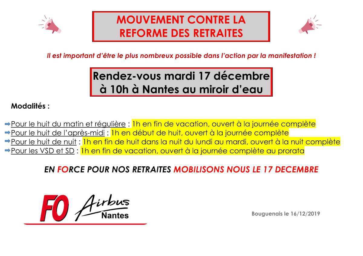 Mouvement contre la réforme des retraites du 17 décembre