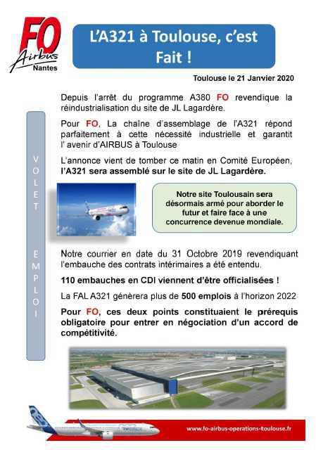 Assemblage A321 à Toulouse