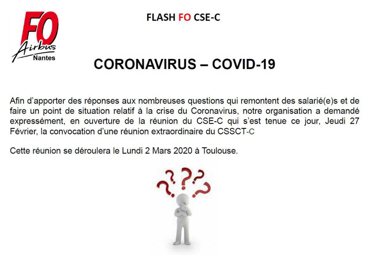 Coronavirus CSSCT-C extraordinaire