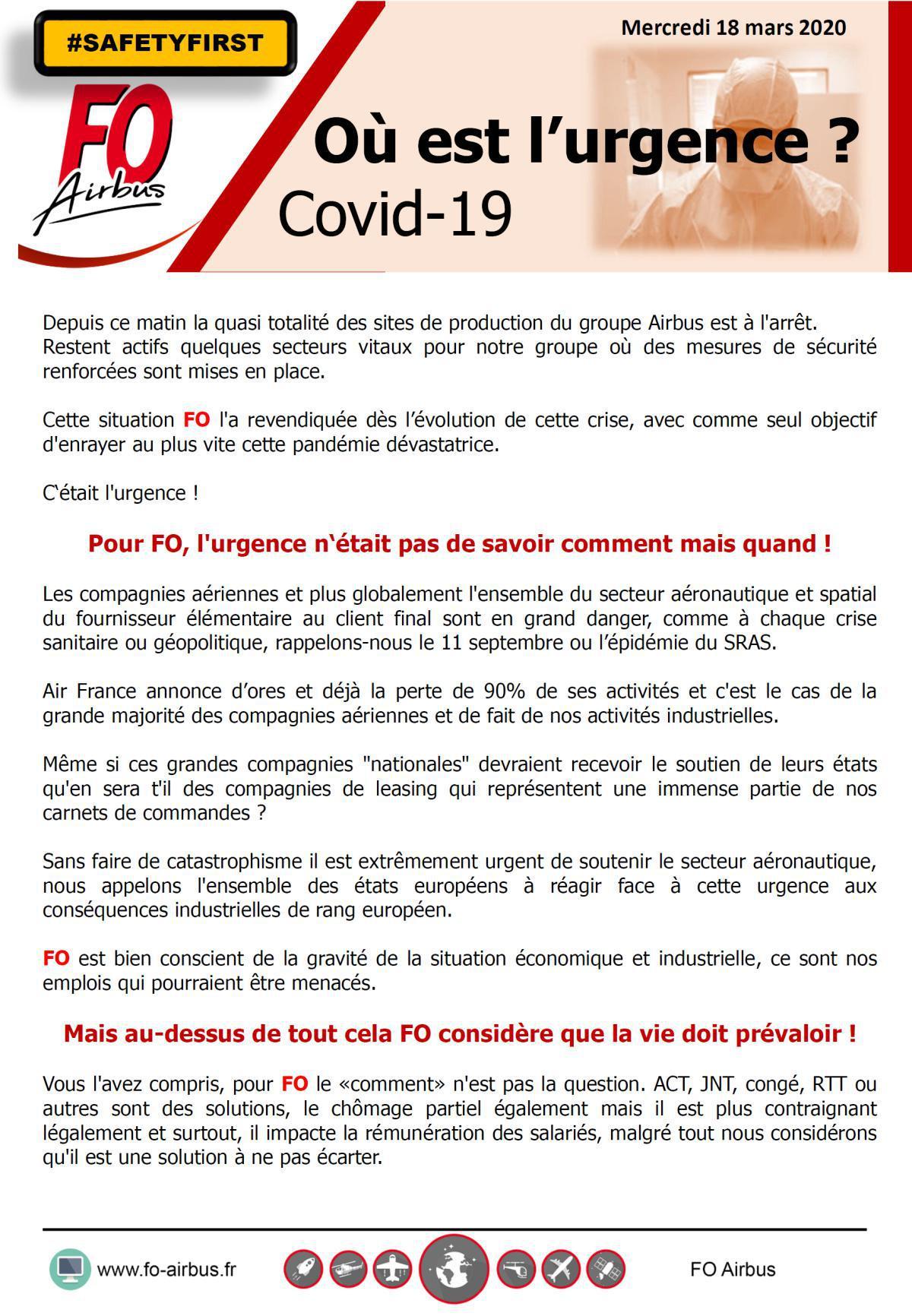 COVID-19. Où est l'urgence?