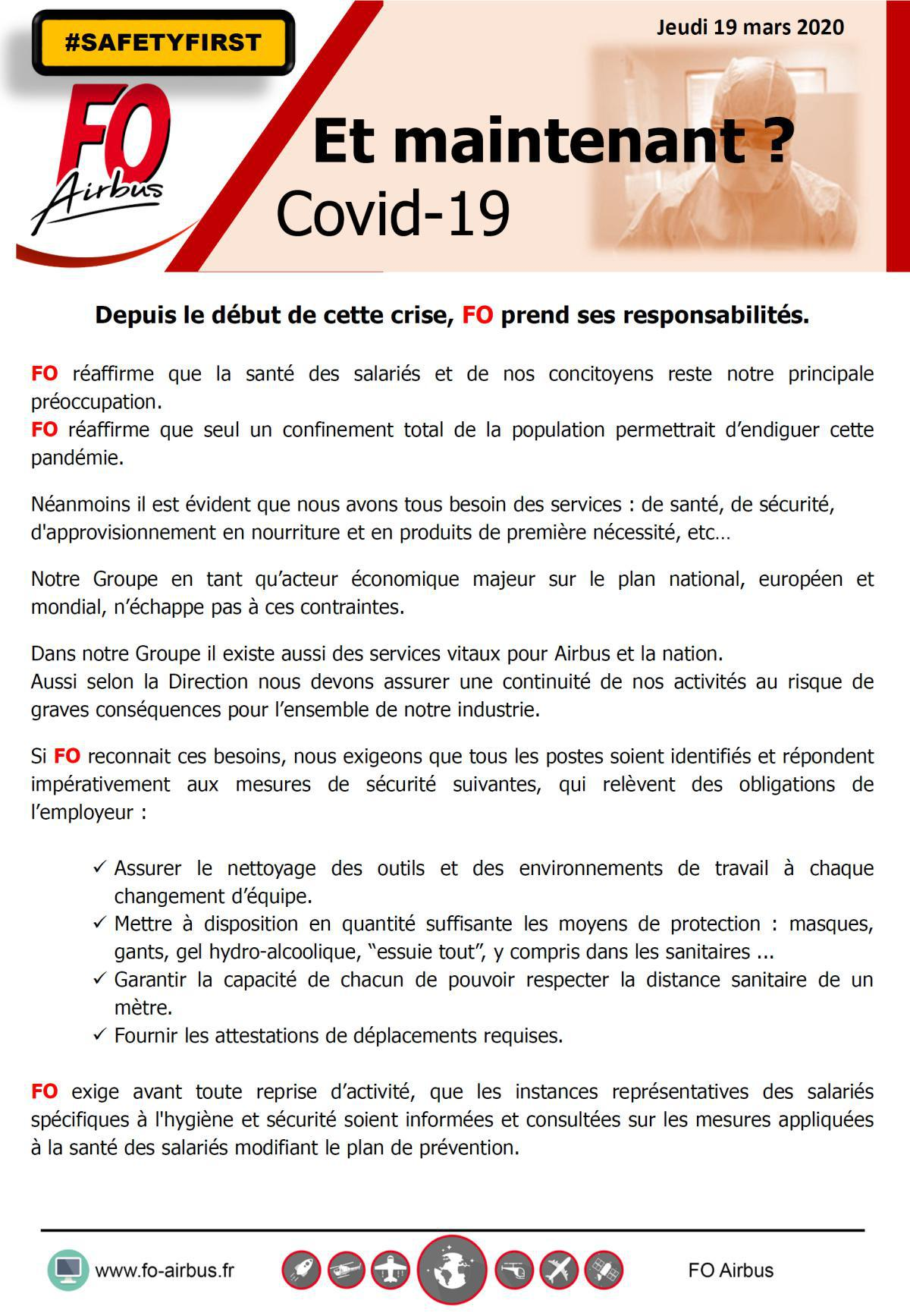COVID-19, et maintenant?