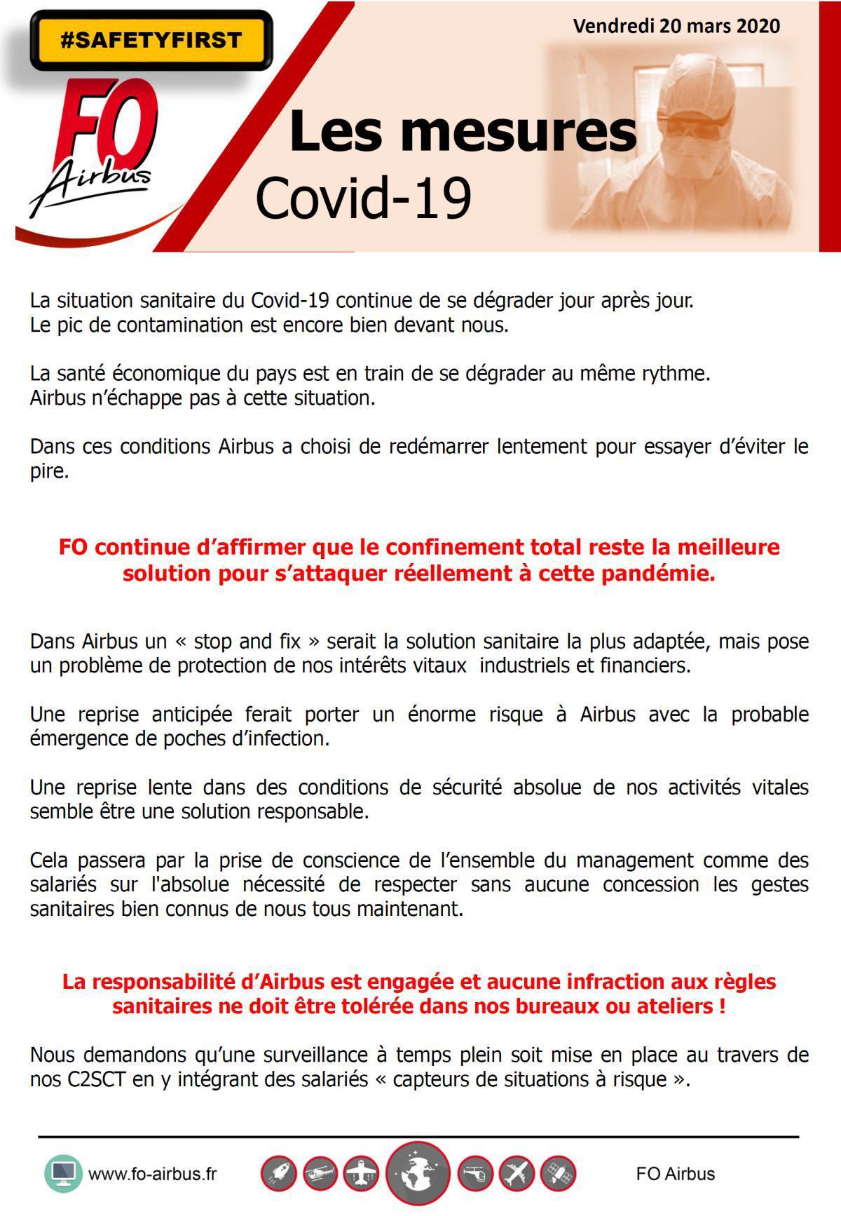 COVID 19, les mesures